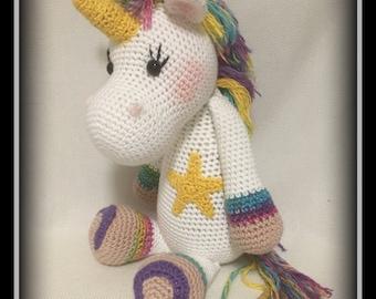 Star Gazer! Crocheted unicorn!