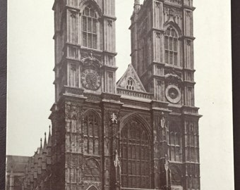 Vintage London - Westminster Abbey postcard! Late 1800s-early 1900s!
