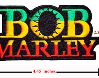 BOB MARLEY Rasta Logo Reggae patch Iron on Sew Applique Embroidered patch.