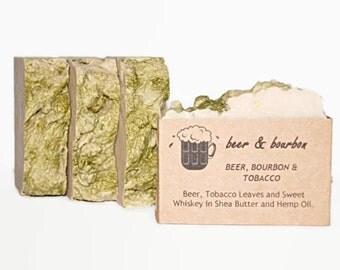 Men's Soap Beer & Bourbon, Shea Butter Soap, Beer Soap, Bar Soap, Moisturizing Soap,  Bourbon Soap, Soap, Conditioning Soap, BEER BOURBON