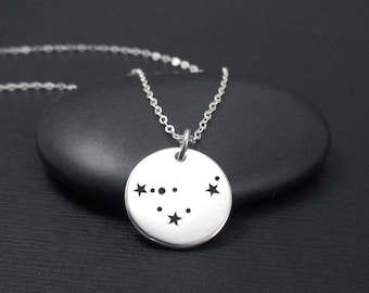 Capricorn Constellation Necklace Sterling Silver Capricorn Constellation Charm Pendant, Zodiac Necklace, Zodiac Jewelry