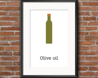 Kitchen wall decor / Poster olive oil  / Kitchen decor / Kitchen wall art / Kitchen wall decor / Wall ideas / Posters / wall art /prints