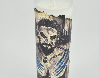 """Khal Drogo GoT 8"""" 7 Day Candle - game of thrones - hbo - dragons - warrior - king - infected bobo"""