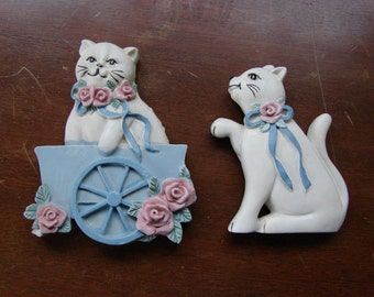 Set of Two Cats Hand Painted Decorative Magnets – Wang's International Inc.