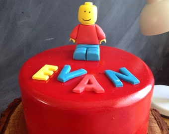 Lego man Cake Topper with free edible name!
