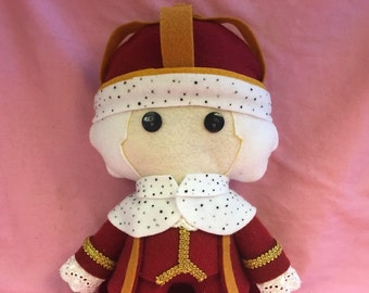 King George Hamilton Musical Fleece Plush Doll