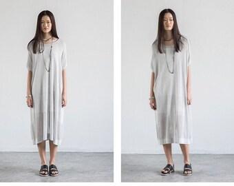 Gray oversized knitted dress   BonLife