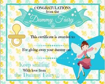 Dummy Fairy Certificate
