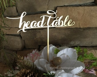 Head Table Laser Cut Sign - Gold or Silver - Elegance Line - Head Table Sign