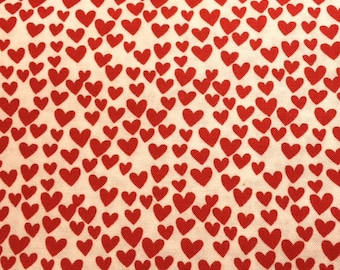 Timeless Treasures RED HEARTS 100% Cotton Premium Quilt Fabric - sold by 1/2 yard