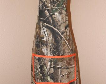 Orange Camouflage adult apron
