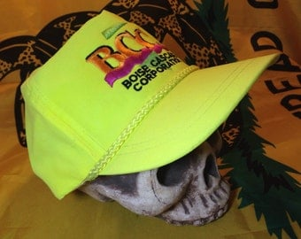 Rad 90s NEON Green Nylon Snapback Hat