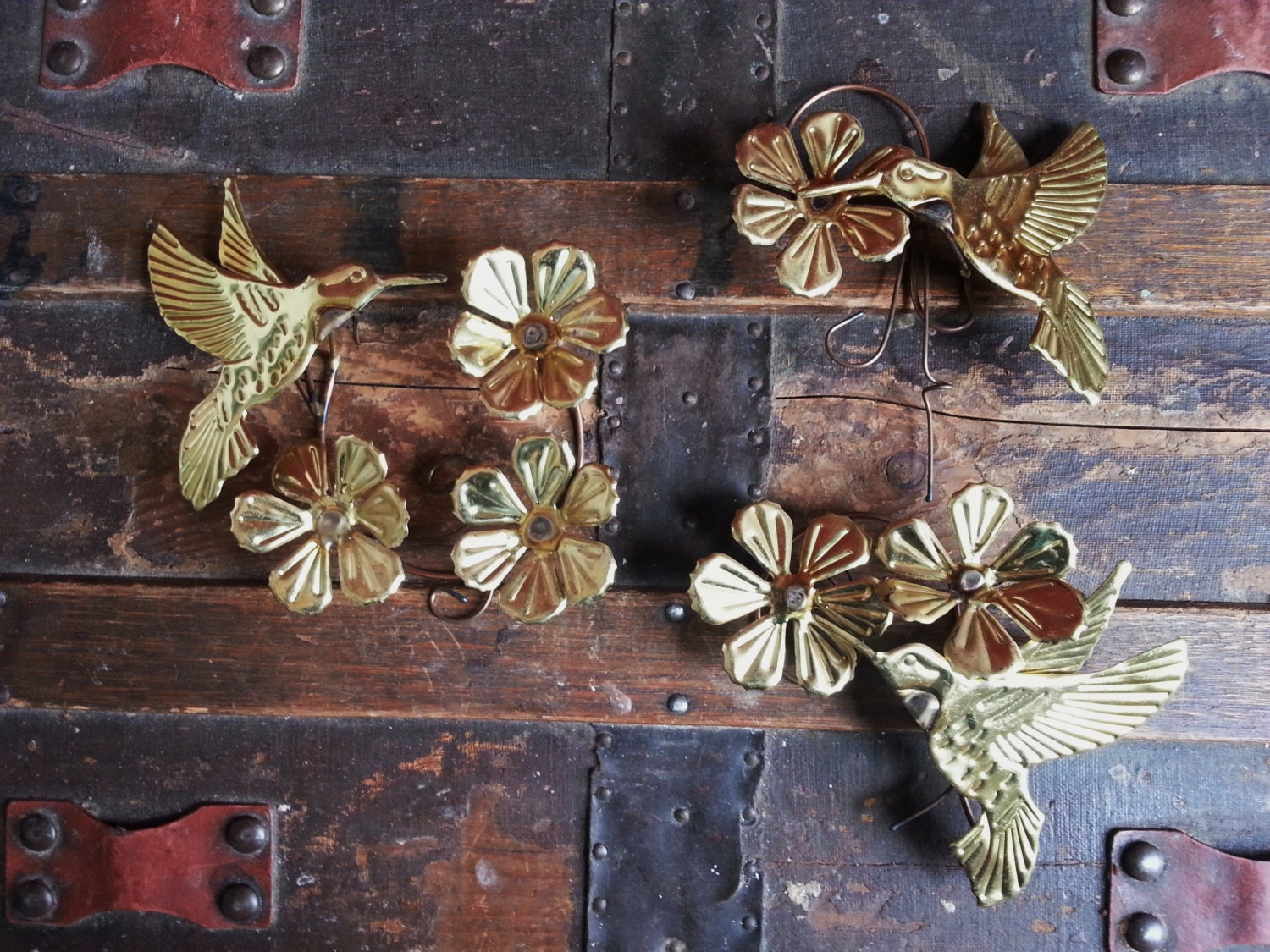 vintage 1970 s homco home interiors set of 3 metal gold