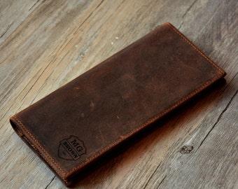 Personalized Wallet Custom Engrave Wallet ,Men's Leather Wallet ,Groomsman Leather Wallet,Men's gift,Long Wallet,Monogrammed Wallet 022