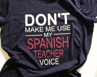 Spanish Teacher Shirt