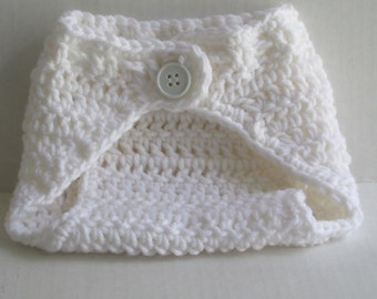 Diaper Cover with button  - many colors- Newborn up to 12 months-  FREE SHIPPING