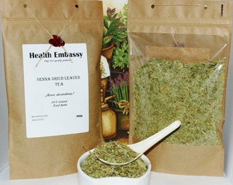 Senna Leaves Tea (Senna alexandrina) 100g - Health Embassy - Organic