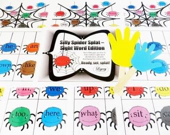 PRINTABLE Spider Game DIY, Printable Lesson Plans, Printable Halloween Game