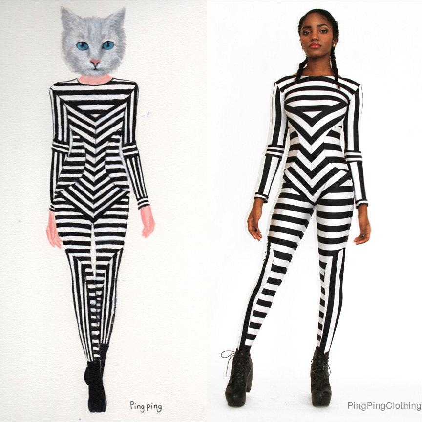 Cat, Kitty, Kittie, Kitten, Leggings, Custom Printed ...  |Cat Print Spandex