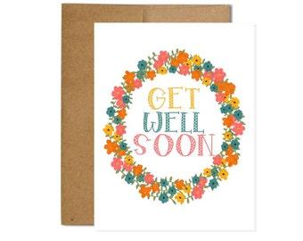 Get Well Soon Card - Gesture Card - Sympathy - Love - Concern - Greeting Card - Blank Card - Greeting Card