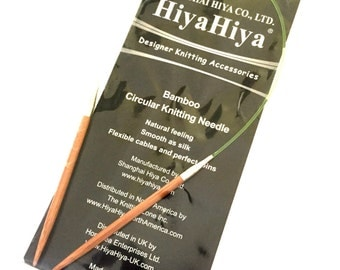 HiyaHiya Bamboo Fixed Circular Knitting Needles 16in/40cm x 4mm