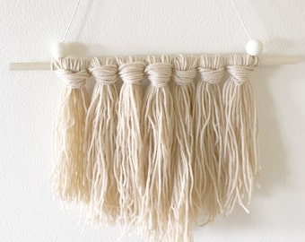 Tassel wall hanging Neutral Boho wall decor