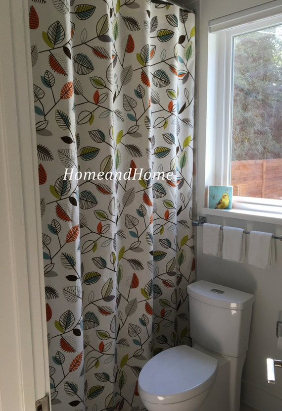 Custom fabric shower Curtain designer Covington Carson Fiesta