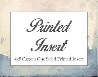 Coordinating Insert - Print Option