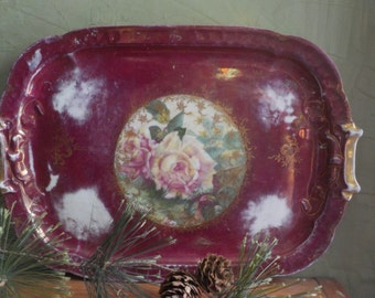 Vintage Rosenthal Bavaria Carmen Rose Serving Tray