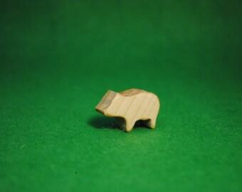 Wood little pig - little pig Statue - Waldorf Animals - Wood Figurine pig - little pig Toy - Wooden little pig - Wood pig Figure