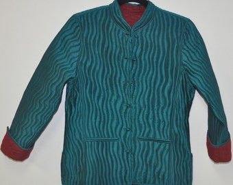 Quilted silk jacket in medium size