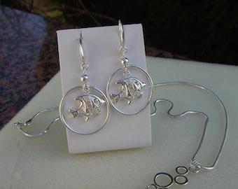 925 Funkel fish earrings!