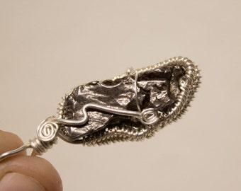 Meteorite Fine Silver Pendant