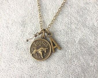 Taurus necklace,zodiac Taurus,Taurus zodiac necklace,zodiac jewelry Taurus,zodiac necklace,zodiac sign necklace,horoscope necklace