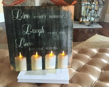 Live Laugh Love lighted sign wall decor hangings canvas print Live Every Moment Inspirational quote sayings prints art Motivational canvas