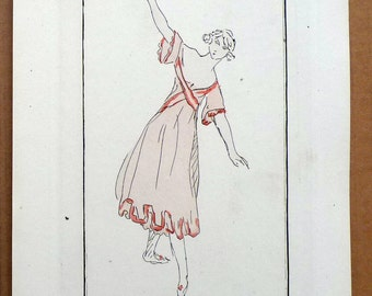 Original Pochoir Print from Journal des Dames et des Modes in 1920, Plate 31