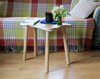 Sofa side table - Bedside table - Small coffee table - End table - Side tables - Night stand - Triangle end table - Wooden furniture