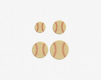 Baseball or Softball Machine Embroidery Design - 4 Sizes