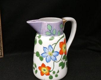 Antique Handpainted Japanese Teapot - Rare design.