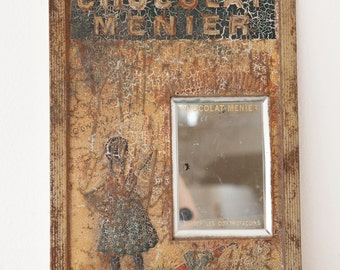 Rare: Early 1900s French Retail Sign - Chocolat Menier - Shabby Chic or Retail Decor - Free Shipping Within the USA