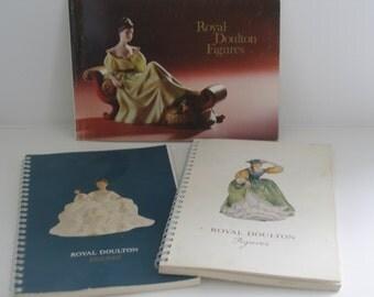 Three Royal Doulton Collectors Books  Royal Doulton Figures  1965 1969 1973  Royal Doulton reference books Pictorial reference