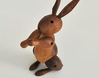 Kay Bojesen Vintage Rabbit Oak Denmark 1950s Scandinavian Design