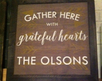 Gather Here custom sign