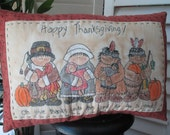 Primitive Inspirational Thanksgiving Pillow - Handmade