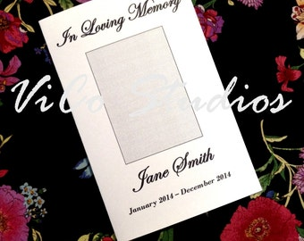 Easy Printable Simple Square Front Template Funeral Program