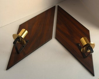 Danish Modern Wall Candle Sconces