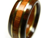 Ready to ship - size 13 - Handsome Walnut and Cherry Wood Wedding Band, 5th Anniversary, Fifth Anniversary, Wood Anniversary, For Him, Men