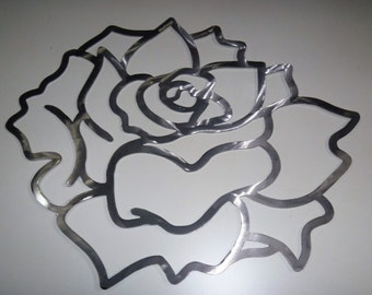 DIY paint project, Aluminum Gardenias, Flower Wall Art, Tropical Flower Metal Art, Aluminum Flowers Small and Medium Sizes