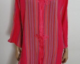 Djellaba Caftan Kaftan gandoura rose taille 38/40/ maxi dress uk 8/10 - us 6/8