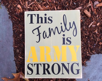 Army Strong, Semper Fi, Navy, Marines, Soldier Gift, Military Gift, Wooden Sign, Military Sayings, Simply Fontastic, Made in the USA